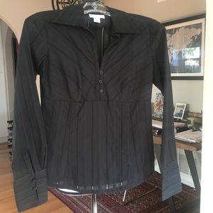 Ann Taylor Loft Black Blouse (NWOT) Size 0